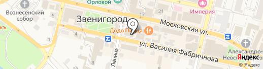 Одежда на карте Звенигорода