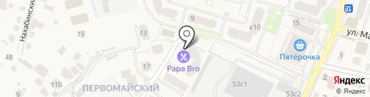 Купеческая на карте Звенигорода