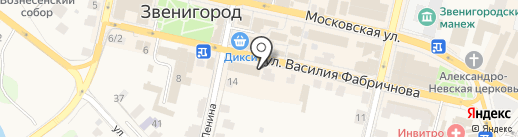 Сенькинъ на карте Звенигорода