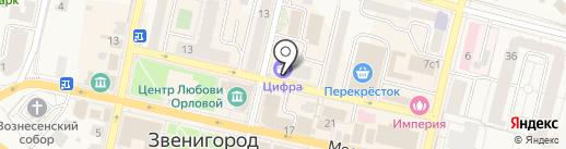 Банкомат, Сбербанк, ПАО на карте Звенигорода