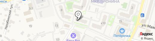 Красотка на карте Звенигорода
