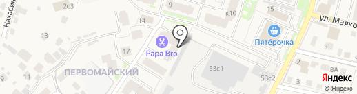Теплый дом на карте Звенигорода