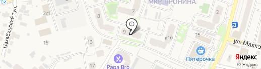 Здравница на карте Звенигорода