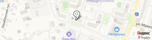 Смайл на карте Звенигорода