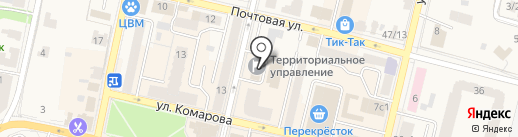 Администрация городского округа Звенигород на карте Звенигорода