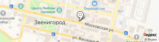 У камина на карте Звенигорода