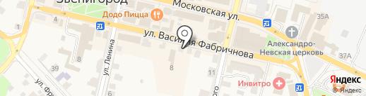 Нотариус Харахорина И.Е. на карте Звенигорода