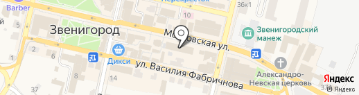 Луковка на карте Звенигорода