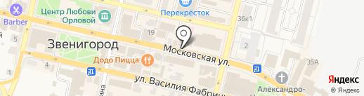 Здесь был Чехов на карте Звенигорода