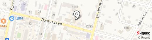 Кораблик на карте Звенигорода