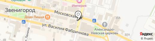 Золотая Корона на карте Звенигорода