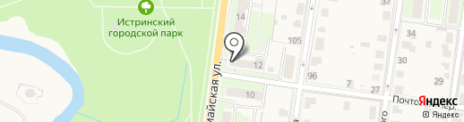 Магазин хлебобулочных изделий на карте Истры