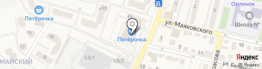 Малютка на карте Звенигорода