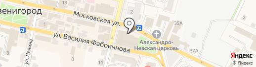 Оларис на карте Звенигорода