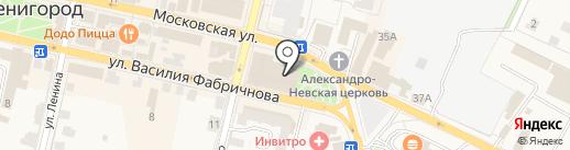 Магазин электронных сигарет на карте Звенигорода