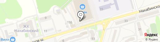 Мио на карте Звенигорода