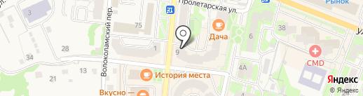 Фран на карте Истры