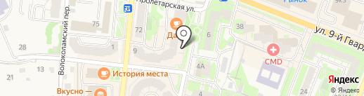 Zефир на карте Истры