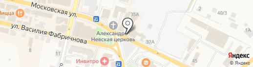 На Московской на карте Звенигорода