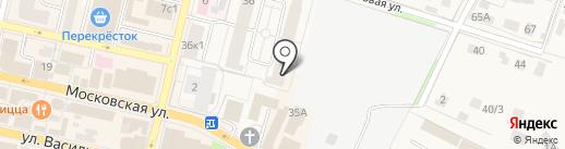 Центральный на карте Звенигорода