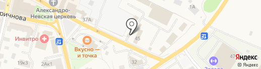 Одинцовское ПАТП на карте Звенигорода