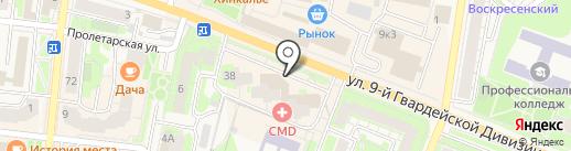 Центральный на карте Истры