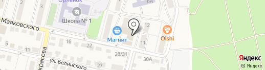 Магазин детских товаров на карте Звенигорода
