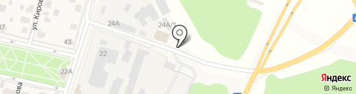 Автомойка на Парковой на карте Звенигорода