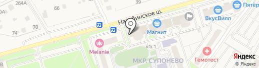 Дивия на карте Звенигорода