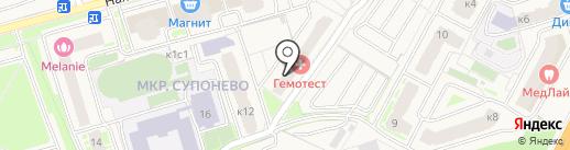 Супонево-4 на карте Звенигорода