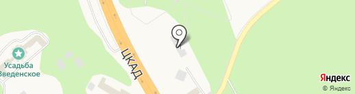 Звенигород на карте Введенского