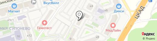 ВЕЛЕС на карте Звенигорода
