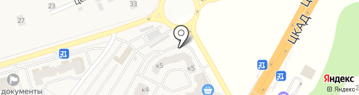 Одинмед на карте Звенигорода