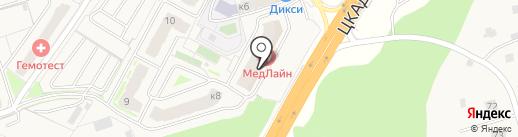 Цифра на карте Звенигорода
