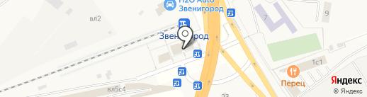 Звенигород на карте Звенигорода