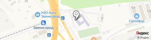 Введенская средняя общеобразовательная школа №3 на карте Звенигорода
