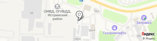 Магазин строительных материалов на карте Истры