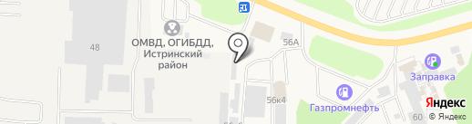 Магазин штор и постельного белья на карте Истры