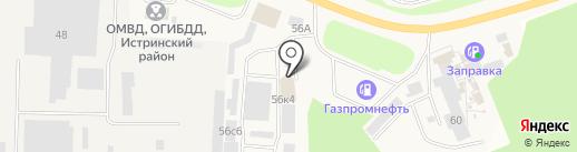 ТЕПЛОСТОК на карте Истры