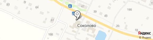 Киоск фастфудной продукции на карте Соколово