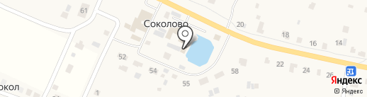 Русская изба на карте Соколово