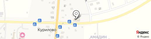 Магазин продуктов на карте Курилово
