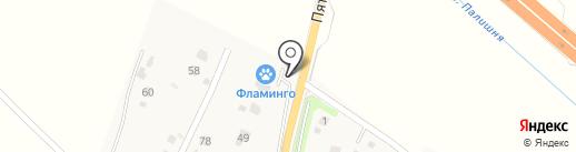 Фламинго на карте Обухово
