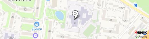 Селятинская общеобразовательная школа №1 на карте Селятино