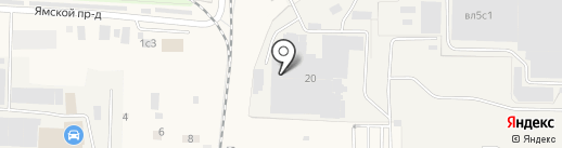 Одинцовская кондитерская фабрика на карте Малых Вязёмов