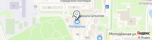 Пятерочка на карте Краснознаменска