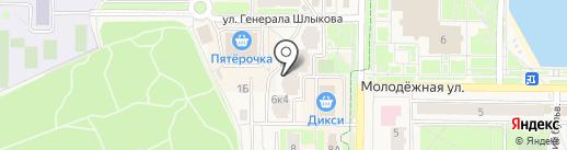 Благослава на карте Краснознаменска