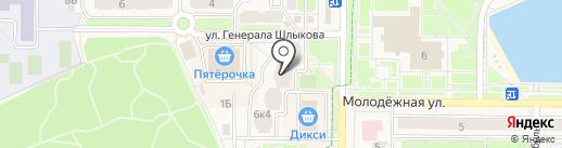 Орхидея на карте Краснознаменска
