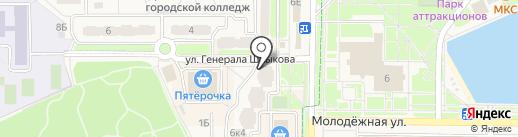 Велес на карте Краснознаменска