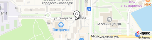 Витраж на карте Краснознаменска
